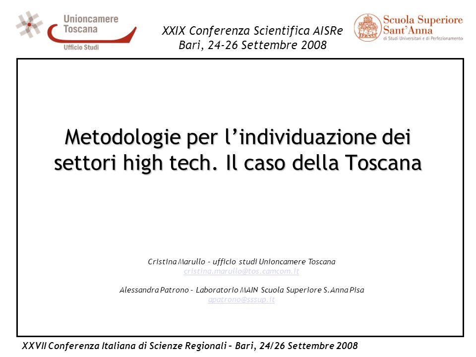 XXVII Conferenza Italiana di Scienze Regionali – Bari, 24/26 Settembre 2008 XXIX Conferenza Scientifica AISRe Bari, 24-26 Settembre 2008 Cristina Maru