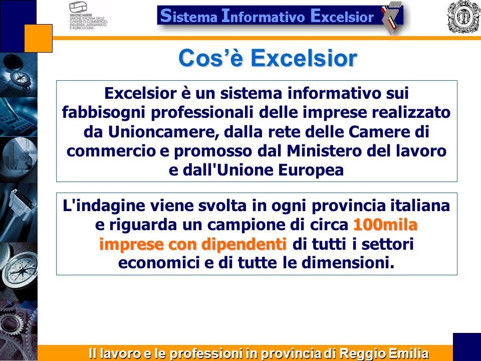 Il lavoro e le professioni in provincia di Reggio Emilia Formazione 50,3% delle assunzioni necessita di ulteriore formazione 15,8% dei casi è richiesta la conoscenza di una lingua straniera 29,0% dei casi è richiesta la conoscenza informatica