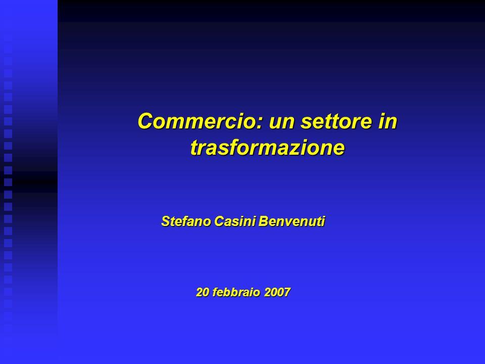 Commercio: un settore in trasformazione Stefano Casini Benvenuti 20 febbraio 2007