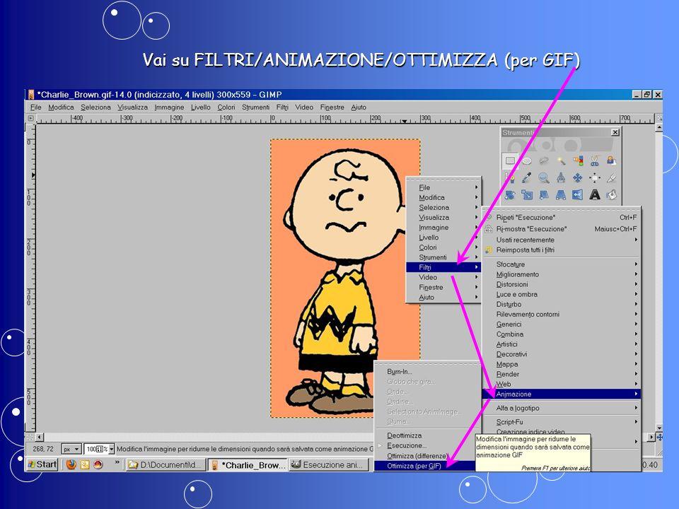 Finalmente puoi salvare: vai su FILE/SALVA IMMAGINE: dai un nome alla GIF animata: Charlie_Brown_animazione.gif dai un nome alla GIF animata: Charlie_Brown_animazione.gif
