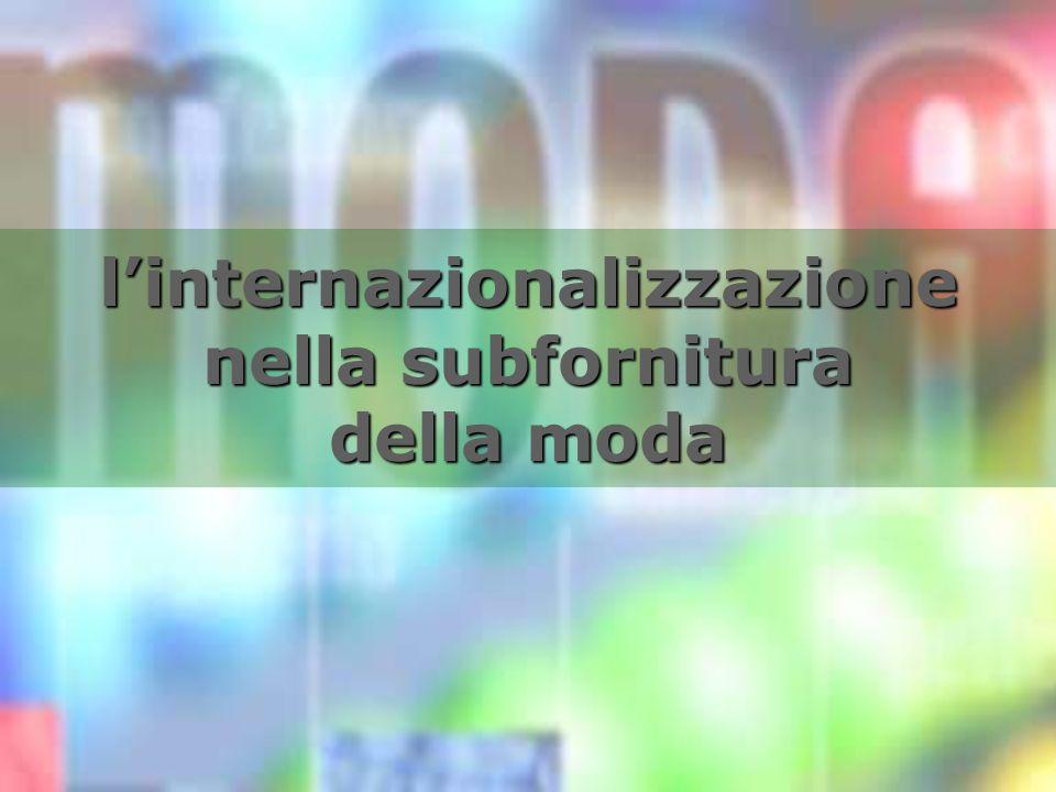 linternazionalizzazione nella subfornitura della moda