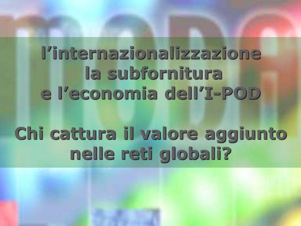 linternazionalizzazione la subfornitura e leconomia dellI-POD Chi cattura il valore aggiunto nelle reti globali