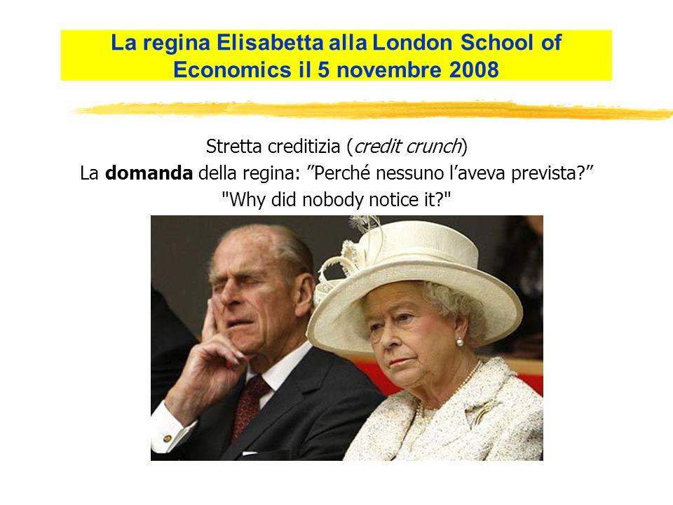Stretta creditizia (credit crunch) La domanda della regina: Perché nessuno laveva prevista.