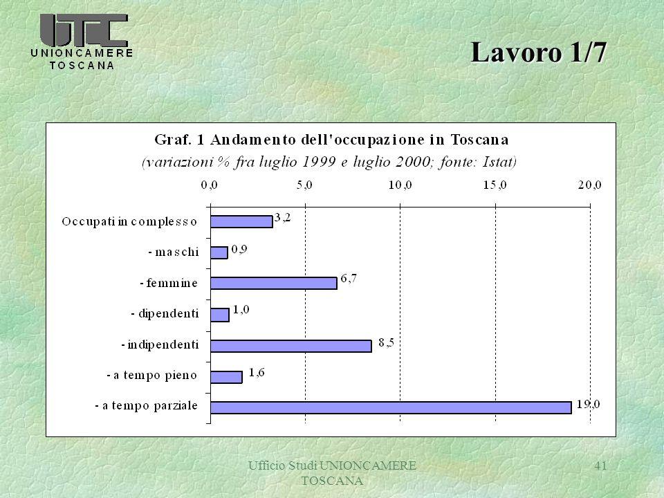 Ufficio Studi UNIONCAMERE TOSCANA 41 Lavoro 1/7