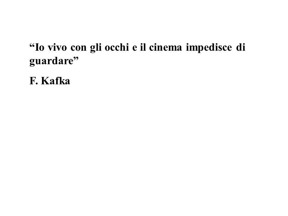 Io vivo con gli occhi e il cinema impedisce di guardare F. Kafka