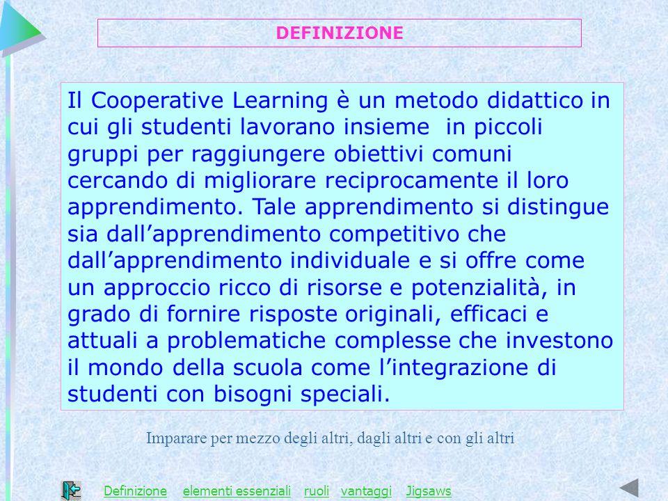 Il Cooperative Learning è un metodo didattico in cui gli studenti lavorano insieme in piccoli gruppi per raggiungere obiettivi comuni cercando di migl