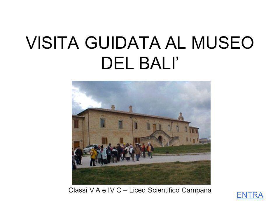 VISITA GUIDATA AL MUSEO DEL BALI Classi V A e IV C – Liceo Scientifico Campana ENTRA