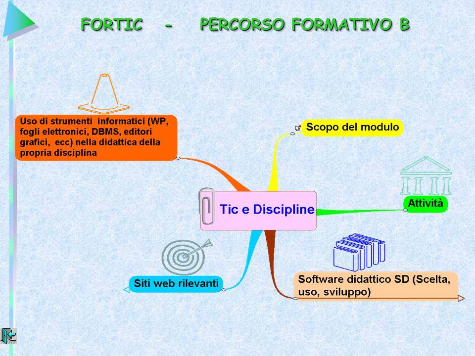 FORTIC - PERCORSO FORMATIVO B