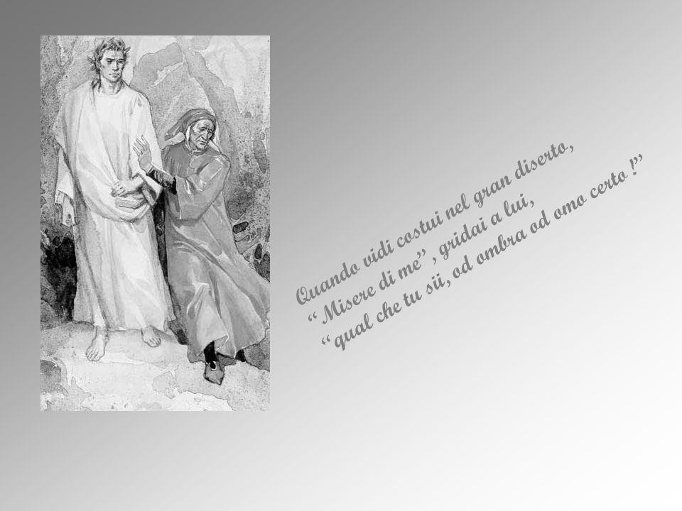 Giunto a metà della sua vita, Dante si allontana dalla via del bene, appesantito dal sonno dellindifferenza e della pigrizia spirituale; inizio una periodo di traviamento morale, paragonato allo smarrimento in una selva insidiosa.