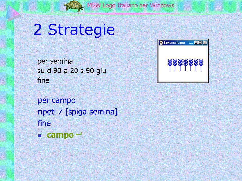 MSW Logo MSW Logo Italiano per Windows 2 Strategie per campo ripeti 7 [spiga semina] fine campo per semina su d 90 a 20 s 90 giu fine
