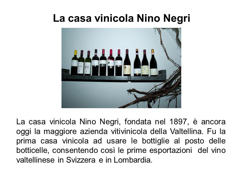 La casa vinicola Nino Negri La casa vinicola Nino Negri, fondata nel 1897, è ancora oggi la maggiore azienda vitivinicola della Valtellina. Fu la prim