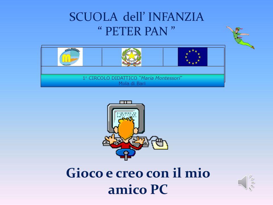 1° CIRCOLO DIDATTICO Maria Montessori Mola di Bari SCUOLA dell INFANZIA PETER PAN Gioco e creo con il mio amico PC
