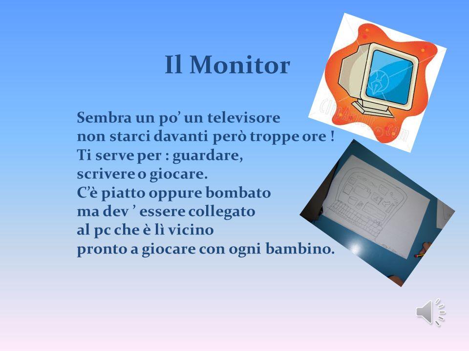 Il Monitor Sembra un po un televisore non starci davanti però troppe ore ! Ti serve per : guardare, scrivere o giocare. Cè piatto oppure bombato ma de