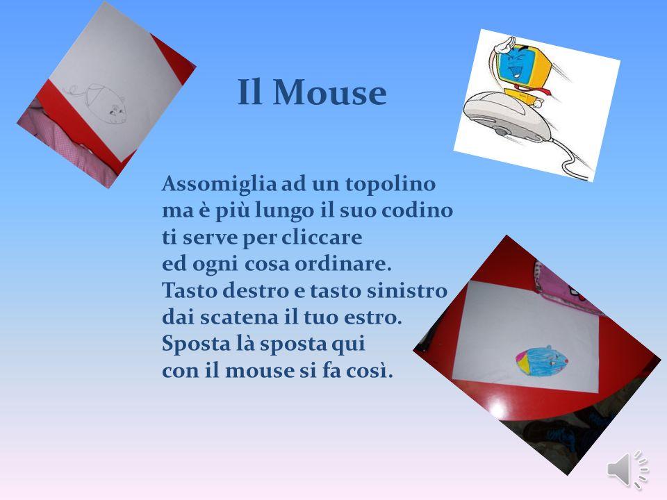 Il Mouse Assomiglia ad un topolino ma è più lungo il suo codino ti serve per cliccare ed ogni cosa ordinare. Tasto destro e tasto sinistro dai scatena