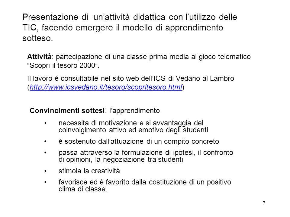 8 Testi di riferimento A.Antonietti e M. Cantoia - Imparare col computer – Erickson, 2001 A.