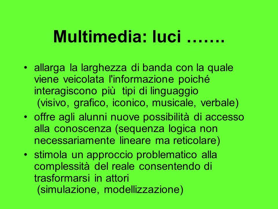 Multimedia: luci …….