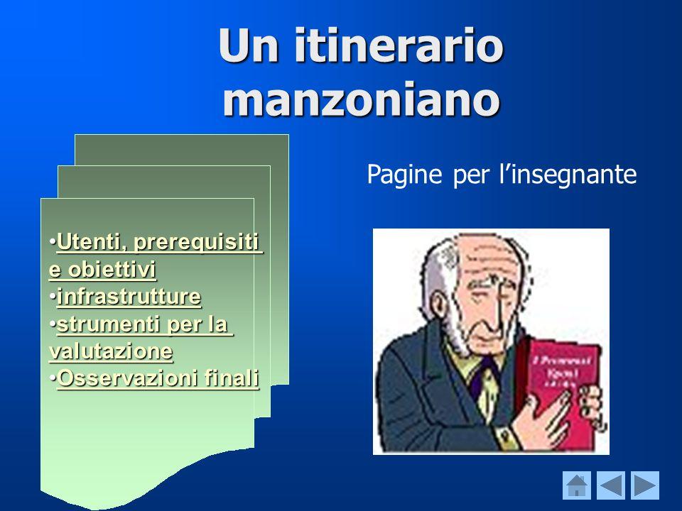 scelta Un itinerario manzoniano Pagine per linsegnante webquest
