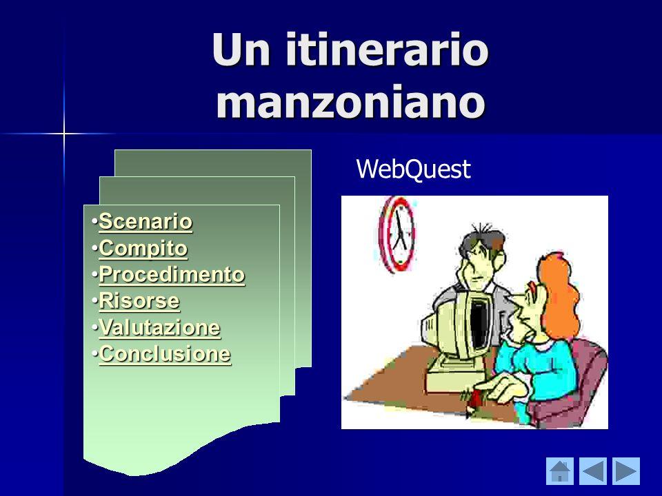 Osservazioni finali una webquest indica le risorse dalle quali attingere nella produzione del compito assegnato, ma linsegnante mantiene sempre un ruo
