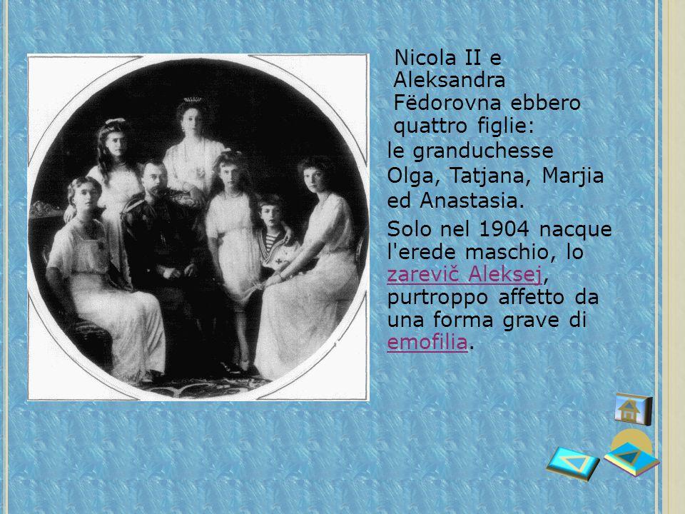 L A VICENDA RUSSA : LA ZARINA A LEXANDRA Alice dAssia sposò lo Zar Nicola II. Per rendersi bene accetta nella nuova famiglia, si convertì alla religio