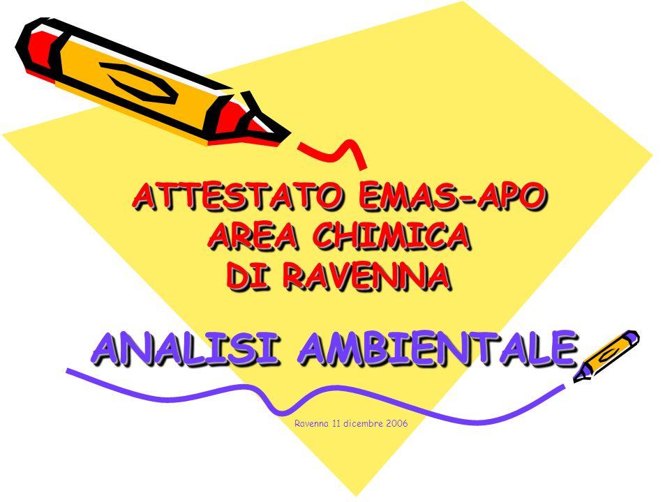 ATTESTATO EMAS-APO AREA CHIMICA DI RAVENNA ANALISI AMBIENTALE Ravenna 11 dicembre 2006