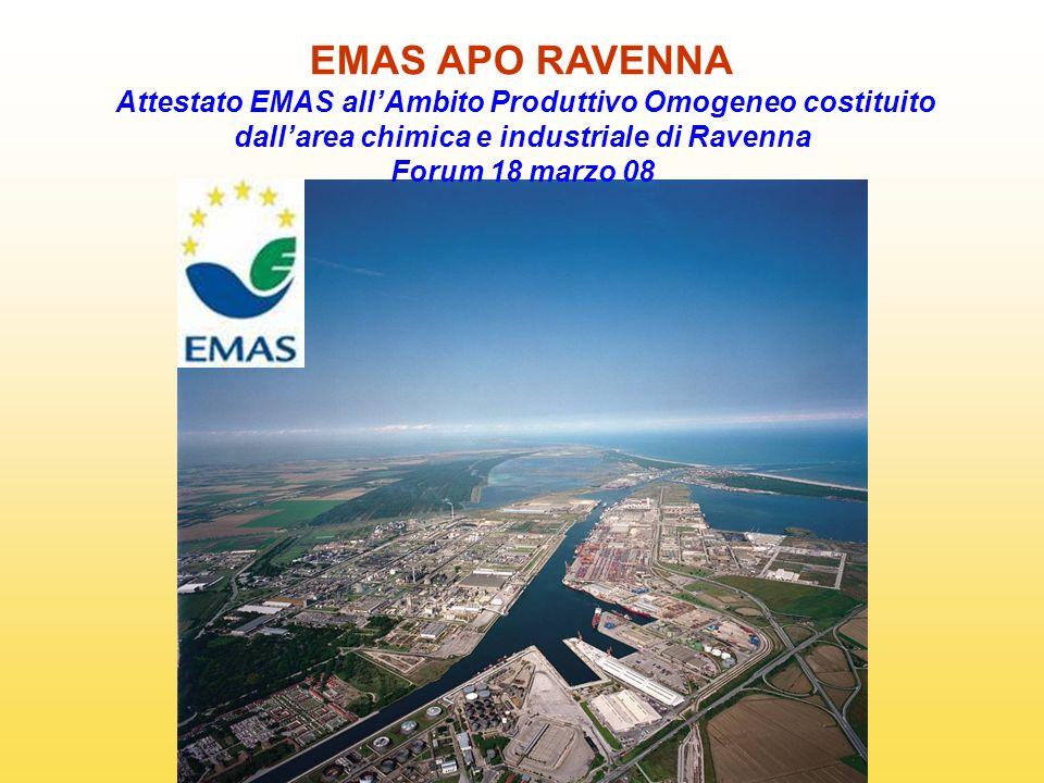 EMAS APO RAVENNA Attestato EMAS allAmbito Produttivo Omogeneo costituito dallarea chimica e industriale di Ravenna Forum 18 marzo 08