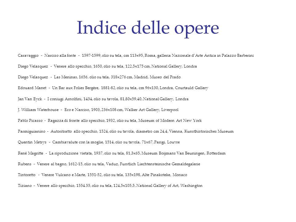 Indice delle opere Caravaggio - Narciso alla fonte - 1597-1599, olio su tela, cm 113x95, Roma, galleria Nazionale dArte Antica in Palazzo Barberini Di