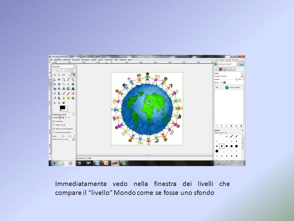 Analogamente a quanto fatto prima vado ad aprire un file immagine di cui voglio creare una GIF animata Apro nuovamente la videata classica di GIMP
