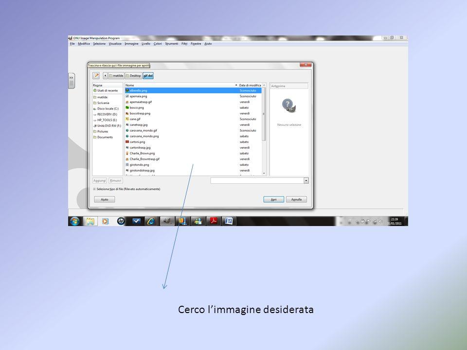 In questa lezione impareremo ad usare GIMP per modificare un file immagine con trasparenza Aprendo linterfaccia principale andiamo ad inserire limmagi