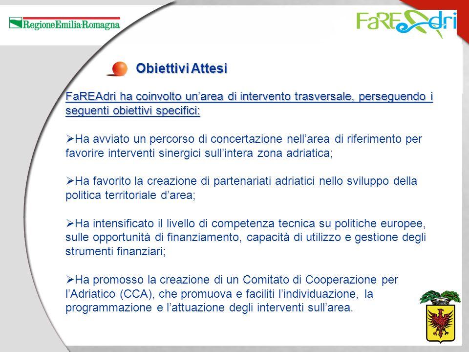 Obiettivi Attesi FaREAdri ha coinvolto unarea di intervento trasversale, perseguendo i seguenti obiettivi specifici: Ha avviato un percorso di concert