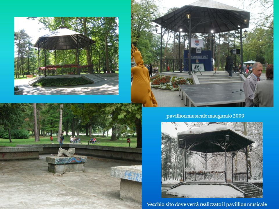 Vecchio sito dove verrà realizzato il pavillion musicale pavillion musicale inaugurato 2009