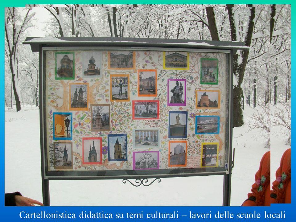 Cartellonistica didattica su temi culturali – lavori delle scuole locali