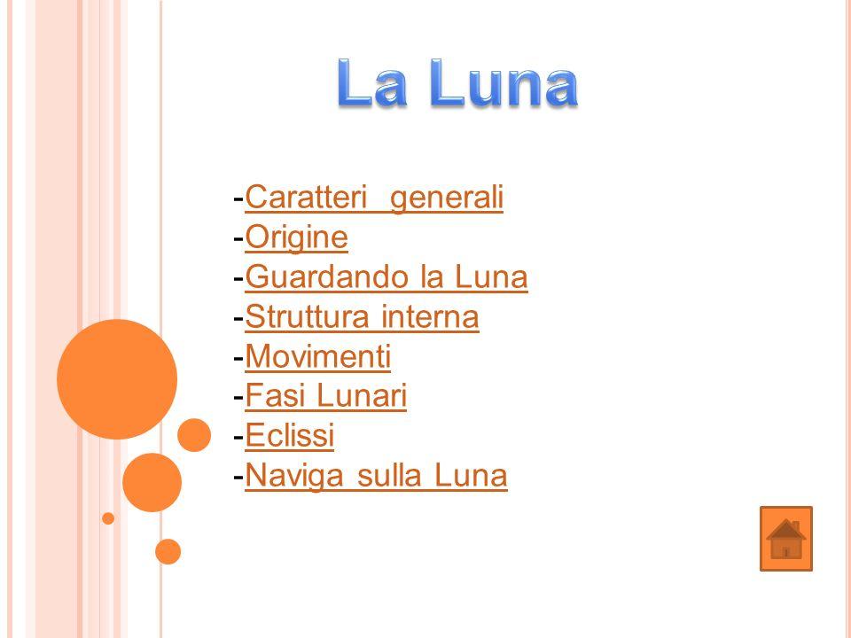 -Caratteri generaliCaratteri generali -OrigineOrigine -Guardando la LunaGuardando la Luna -Struttura internaStruttura interna -MovimentiMovimenti -Fas