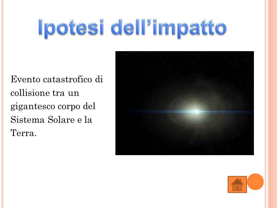 Evento catastrofico di collisione tra un gigantesco corpo del Sistema Solare e la Terra.