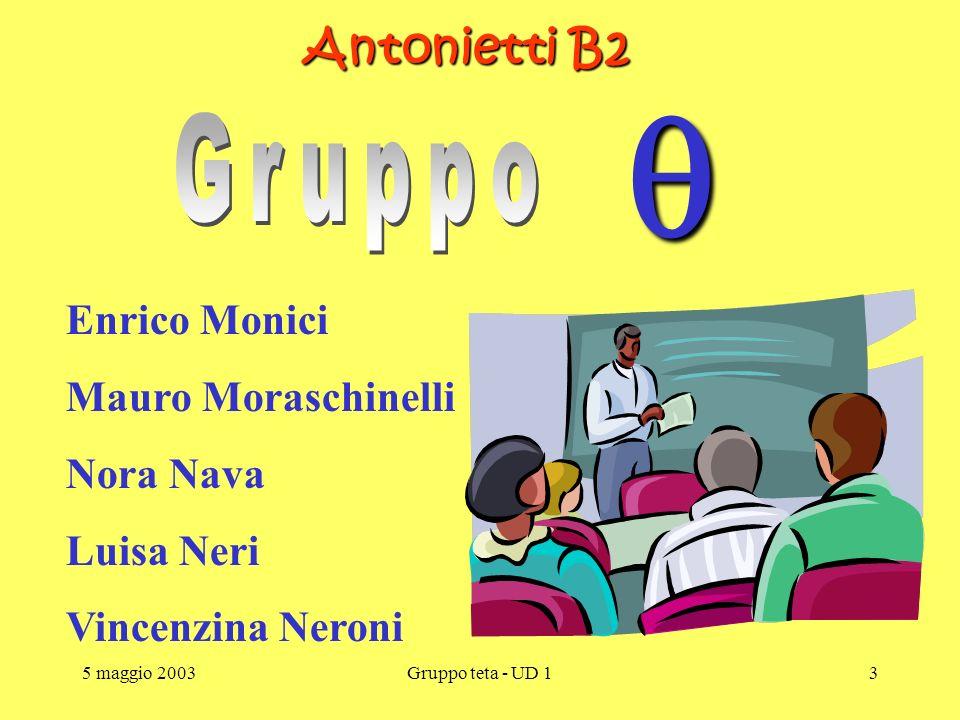 5 maggio 2003Gruppo teta - UD 12 Piano Nazionale di Formazione degli Insegnanti sulle Tecnologie dell Informazione e della Comunicazione