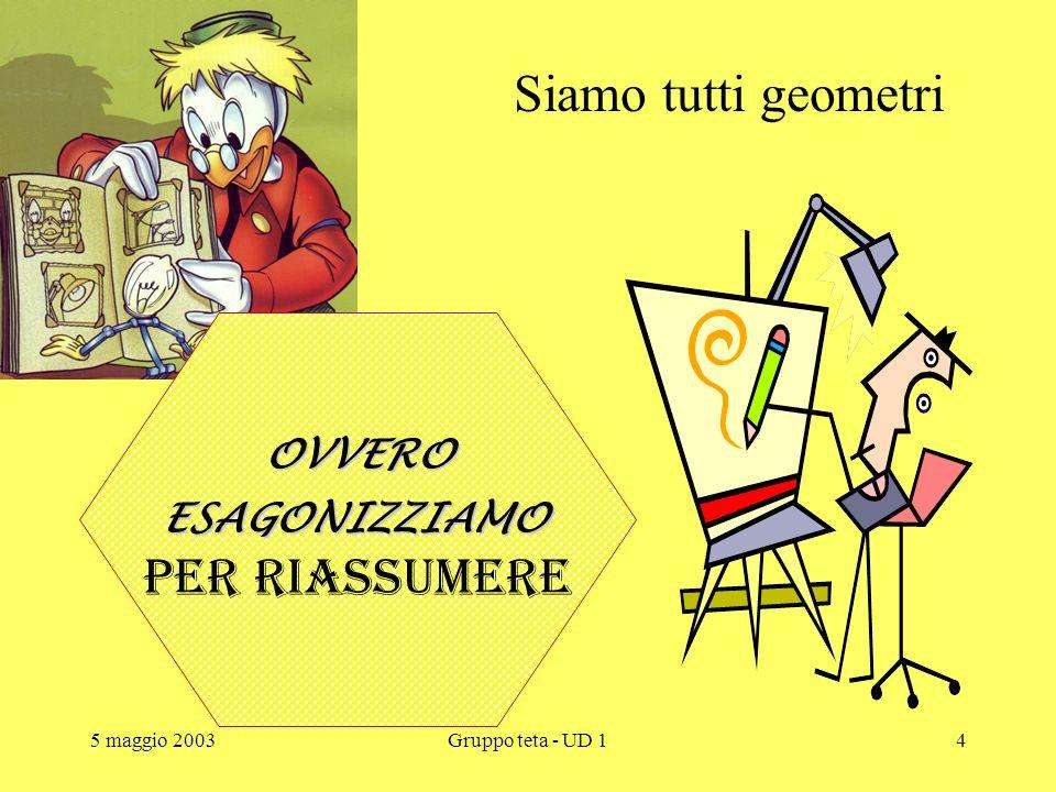 5 maggio 2003Gruppo teta - UD 13 Antonietti B2 Enrico Monici Mauro Moraschinelli Nora Nava Luisa Neri Vincenzina Neroni