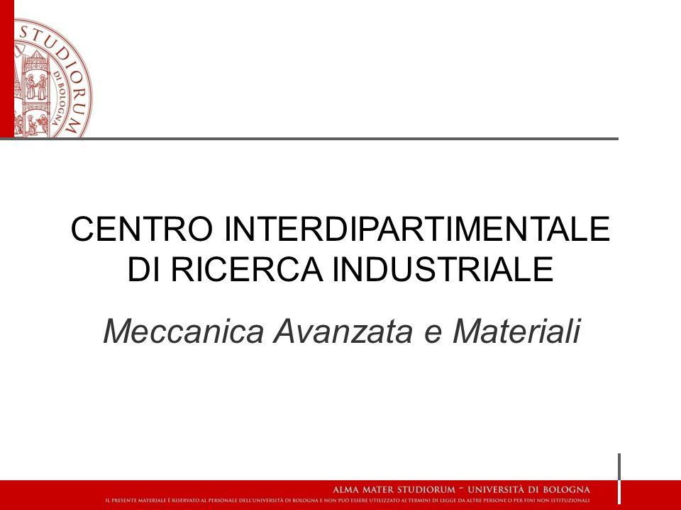 CENTRO INTERDIPARTIMENTALE DI RICERCA INDUSTRIALE Meccanica Avanzata e Materiali