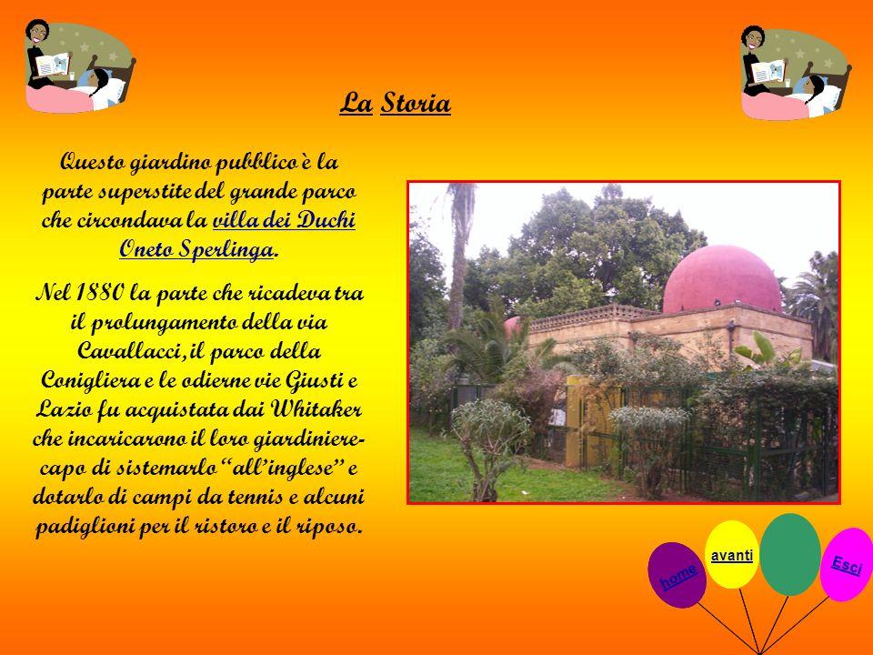 La Storia Questo giardino pubblico è la parte superstite del grande parco che circondava la villa dei Duchi Oneto Sperlinga.villa dei Duchi Oneto Sper