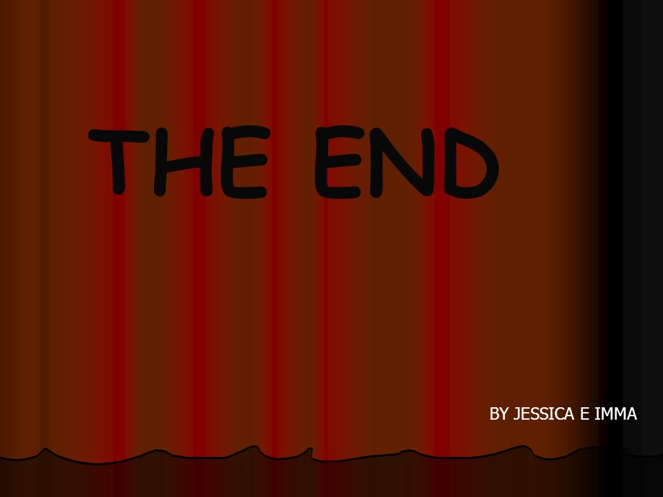 THE END BY JESSICA E IMMA