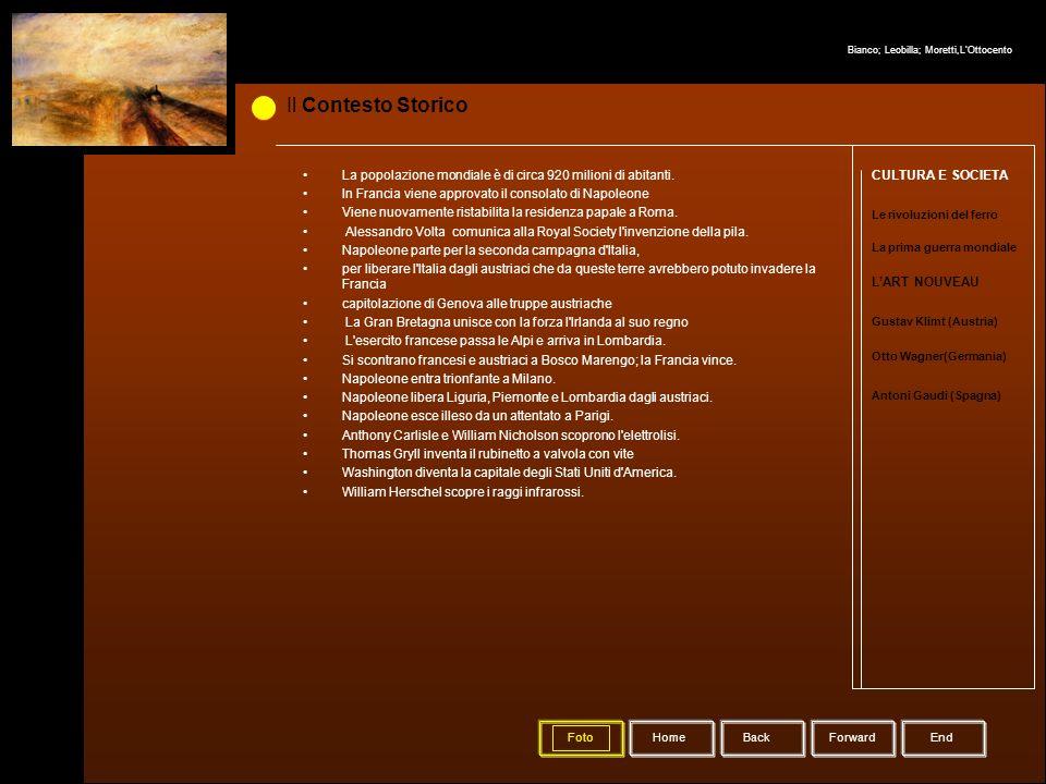 Il Contesto Storico La prima guerra mondiale Le rivoluzioni del ferro Gustav Klimt (Austria) Otto Wagner(Germania) Antoni Gaudi (Spagna) CULTURA E SOC