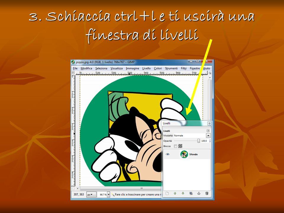 4.Clicca con il tasto destro del mouse sulla finestra di livelli e ti uscirà unaltra finestra 4.