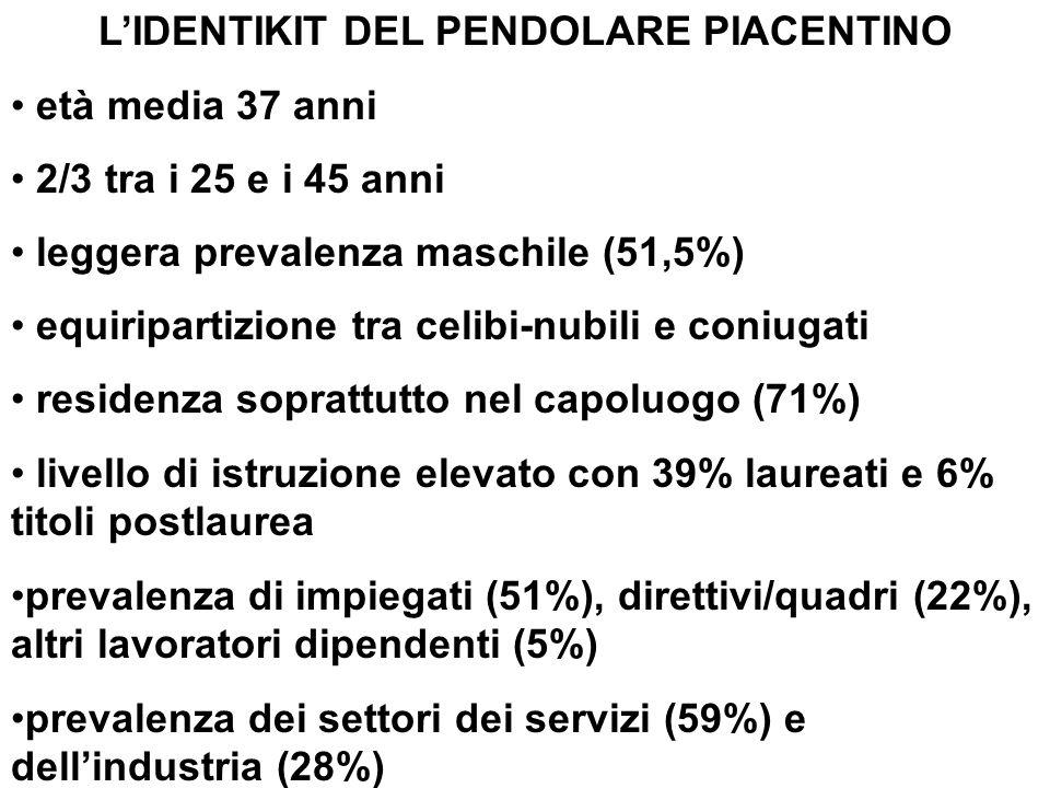 TEMPO IMPIEGATO PER RAGGIUNGEREIL LUOGO DI LAVORO O STUDIO (% su totale)