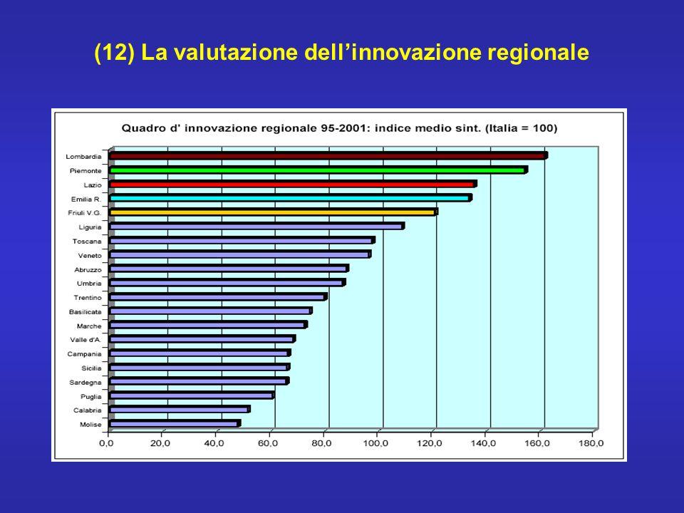 (12) La valutazione dellinnovazione regionale
