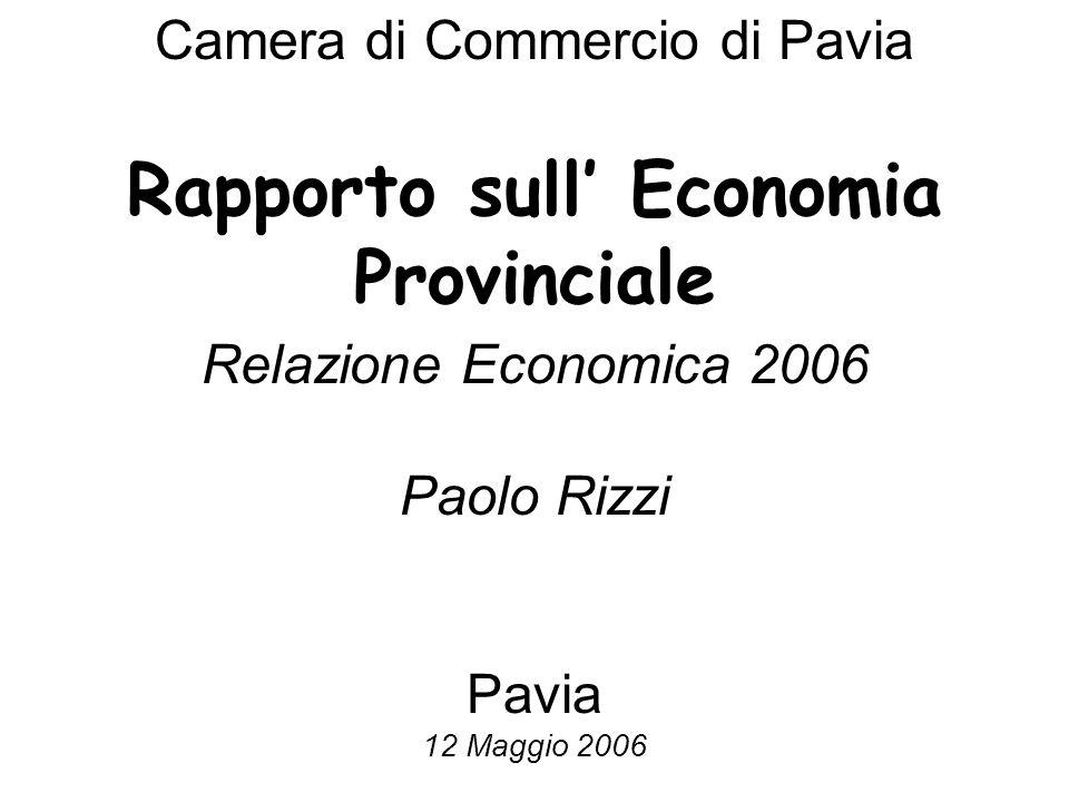 Camera di Commercio di Pavia Rapporto sull Economia Provinciale Relazione Economica 2006 Paolo Rizzi Pavia 12 Maggio 2006