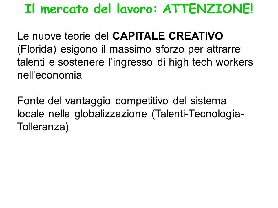 Il mercato del lavoro: ATTENZIONE.