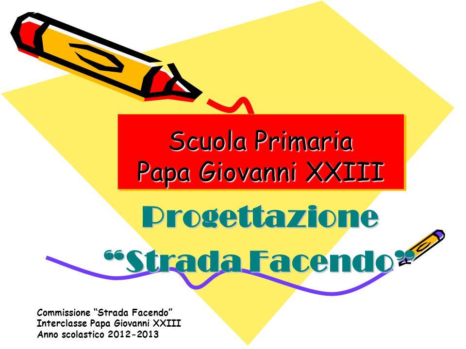 Commissione Strada Facendo Interclasse Papa Giovanni XXIII Anno scolastico 2012-2013 Scuola Primaria Papa Giovanni XXIII Scuola Primaria Papa Giovanni