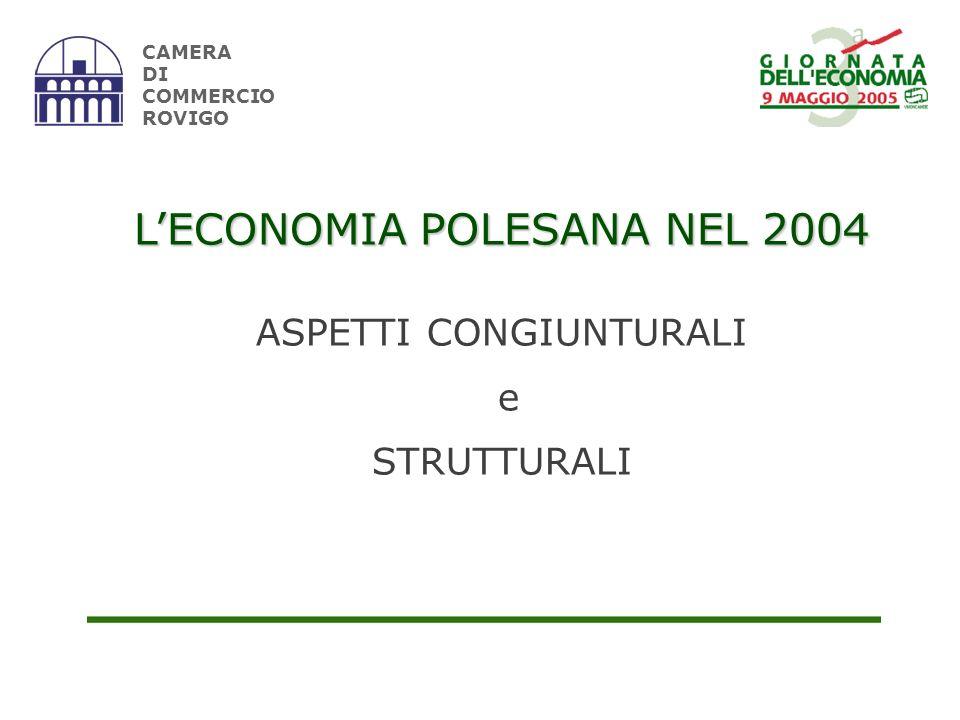 CAMERA DI COMMERCIO ROVIGO LECONOMIA POLESANA NEL 2004 ASPETTI CONGIUNTURALI e STRUTTURALI
