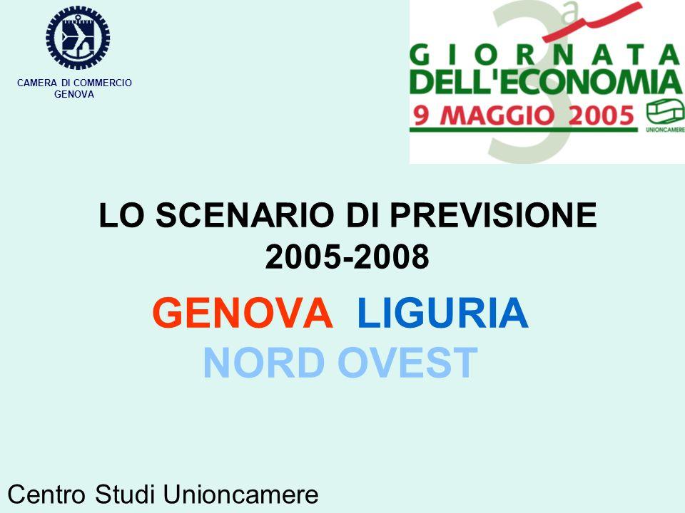 LO SCENARIO DI PREVISIONE 2005-2008 GENOVA LIGURIA NORD OVEST CAMERA DI COMMERCIO GENOVA Centro Studi Unioncamere