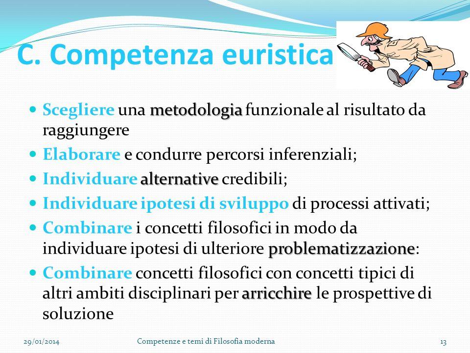 B. competenza organizzativo-sistematica Definire i significati; Identificare e spiegare i principi e le teorie; Individuare i concetti – chiave nei te