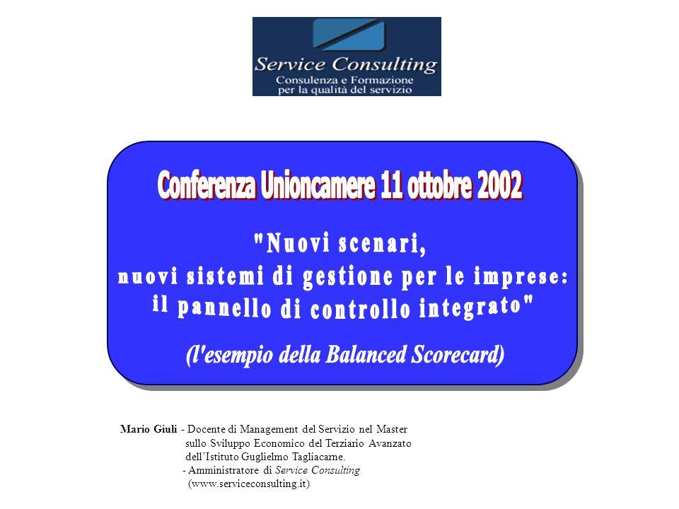 Mario Giuli - Docente di Management del Servizio nel Master sullo Sviluppo Economico del Terziario Avanzato dellIstituto Guglielmo Tagliacarne.