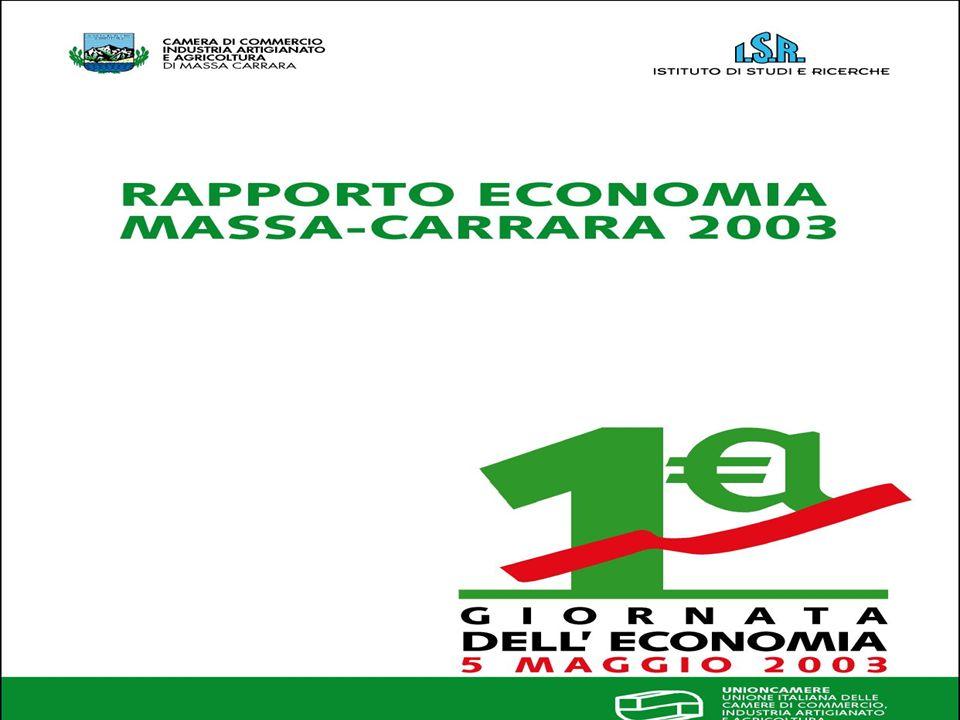 La variazione pro – capite del reddito di Massa – Carrara, nel periodo 1995 – 2001, è risultata la più alta in Toscana, dopo Siena, con un incremento del 37,4%.